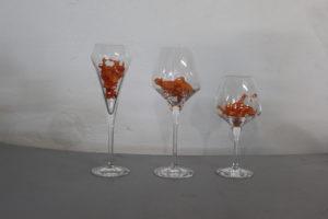 Flûtes tulipes ou verres à vin 40cl 46€ le 6.  Verres 32cl 42€ les6